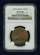 Great Britain Victoria 1899 1 Penny Choice Uncirculated Certified Ngc Ms64-rb