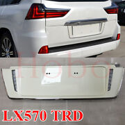 1xpearl White Rear Cover License Plate Led Trim Assembly For Lexus Lx570 2008-19