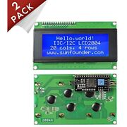 Sunfounder 2004 20x4 Lcd Module Iic I2c Interface Adapter Blue Backlight For R3