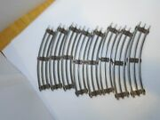 8 Vintage Marx O Gauge Metal Curved Straight Cross 3 Rail Track Toy Train Parts