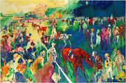 Leroy Neiman Paddock At Chantilly Closeout Sale All Serigraphs Guaranteed Mint