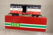 Lehmann Lgb State Of Maine Products Train Car 4067 - K 01 Red Whte Blue W/box