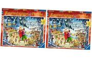 Santa's Christmas Party 1000 Piece Jigsaw Puzzle For Adults – Every Piece Is