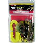 Keeper 04110 10-ft 2000-lb Load Limit Ratcheting Tie-down Strap W/ Snap Hooks