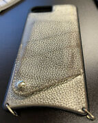 """Bandolier Gold And Black Leather Phone Case Studded Strap - Iphone7plus6""""extender"""