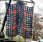 Cargo Net 10and039x10and039 Red Black Military Surp Hvy Duty10000 Lbs Climbing Lifting