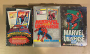 Impel Marvel Universe Series 1 2 3 Factory Sealed Trading Card Boxes 1990