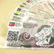 52 Notes Worldwide Original Real Bank Money Notes From 28 Countries Collectible