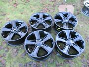 5 18and039and039 Jeep Wrangler Gloss Black Factory Oem Wheels Rim 2007 - 2021 9221
