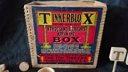 C1890 Tinkerblox Game Tinker Toys Advertising Blocks Wooden Box Dove Tailed Wow