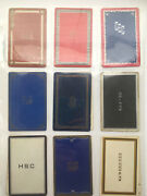 18 Vintage Monogrammed Lot Single Swap Playing Trading Cards 1940's 1950's