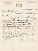1903 Michigan Wolverines Charles Baird Signed Football Letter Fr Iconic Season