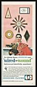 1962 Sunburst Clock Featured In Wired Or Wound Session Clocks Vintage Print Ad