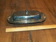 Vintage Oneida Silver Plate Covered Butter Dish - No Glass Insert