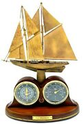 The Bluenose Racing Schooner Desk Clock And Thermometer Limited Edition