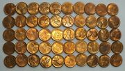 Coin Roll 1947-s Lincoln Wheat Cent Pennies Penny Lot Set - Uncirculated - Lg292