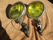 1930and039s-1940and039s 6 Inch See Lite Script Fog Lights With Brackets