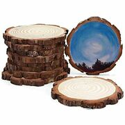 Innaper Unfinished Natural Wood Slices Circles With Tree Bark Log Discs For Diy