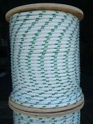 Novatech Xle Halyard Sheet Line Dacron Sailboat Rope 7/16 X 80and039 White/green
