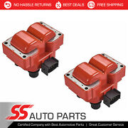 2 Fd487 Red Ignition Coil For 1989-2003 Ford Escort Zx2 Coupe 2-door 2.0l L4