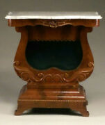 Fine Classical Revival Mahogany Marble Top Pier Table.