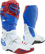 Fox Racing Instinct Mens Mx Offroad Boots Blue/red