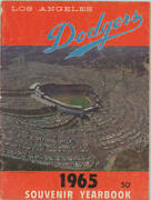 1965 Sandy Koufax Signed Dodgers World Champions Souvenir Yearbook