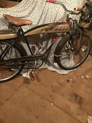 Jc Higgins Boys Bicycle Original With Bat Wing Headlight Color Flow 1953