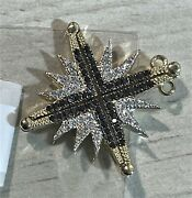 14k Yellow Gold Star Of Bethlehem Necklace 84 Natural Diamonds Made In Israel