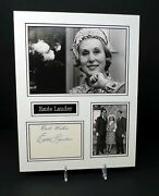 Estee Lauder Signed And Mounted Cosmetics Family Photo Display Aftal Rd Coa