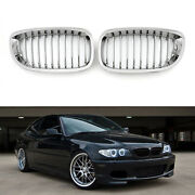 Car Front Fence Grill Grille Chrome Mesh For Bmw E46 2 Doors 03-2005 3 Series