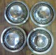 1953 54 55 56 57 58 Studebaker Wire Wheels Covers And Hubcaps Set Of 4 15 Oem