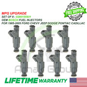Upgrade 8x Oem Bosch Mpg Fuel Injectors 85-05 Ford Chevy Jeep Dodge 7.5l Vin G/s