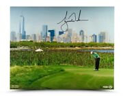 Tiger Woods Signed Autographed 16x20 Photo Nyc Barclays New York /100 Uda