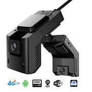4g/wifi Car Dvr Dash Cam Android 5.1 Dual Camera Live View 1080p Drive Recorder