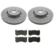 Zimmermann Front Disc Brake Rotors And Pads Kit For Mercedes W218 W212
