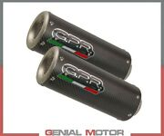 2 Exhaust Mufflers Gpr M3 Carbon Approved Kawasaki Z 1000 2010 2013