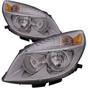 Headlight Left And Right Set Fits And03907-0411and03907 Saturn Aura/ 2007 Hybrid