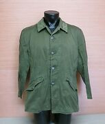 Swedish M59 Army Military Od Green Field Jacket Coat Size Large D104