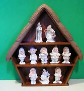 Lenox Snow White 5 Sets Of Salt And Pepper Shakers With Shelf New In Boxes W/coaand039s