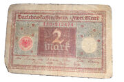 Germany Paper Money 2 Marks 1920 Banknote Sold As Is. Please Review Pictures.