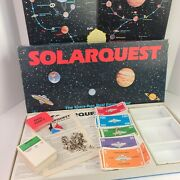 Solarquest Board Game 1986 Space Age Real Estate 4231 Components For Parts