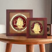3d Sailboat Pictures Gold Foil Painting Smooth Sailing Wall Art Pictures Crafts