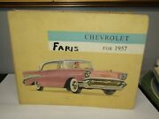 Original 1957 Chevrolet Dealer Showroom Book With Samples And Pictures