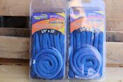 2 Marpac Premier 3/8 X 20and039 Double Braid Nylon Dock Line Boat Mooring Rope Blue