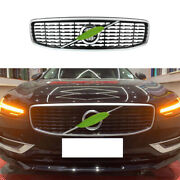 Fit For Volvo S90 2017-2021 Black Silver Front Upper Bumper Mesh Grill Grille 1x