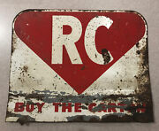Early Rc Royal Crown Cola Store Display Rack Topper Sign Soda Pop