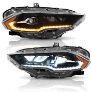 For Ford Mustang 2018-2020 Full Led Dynamic Drl/turn Amber Side Reflector