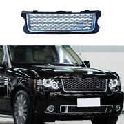 Front Center Mesh Grille Grill Cover Black Silver For Range Rover L405 2005-2012