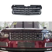 Front Center Mesh Grille Grill Cover Black Silver For Range Rover L405 2013-2017